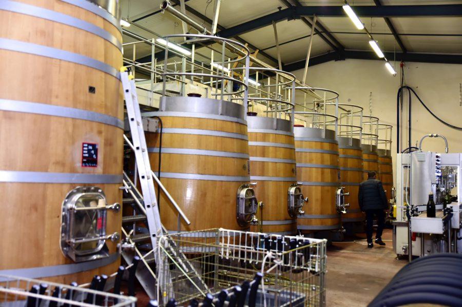 通常はワインを発酵させるときには、ぶどうの茎などは取り除いていから行いますが、 茎まで美味しい自信があり、茎ごと発酵させることにより、発酵中に空気の隙間ができるので、発酵期間が通常30日~50日のところ、わずか10日で発酵を終わらせることができます。